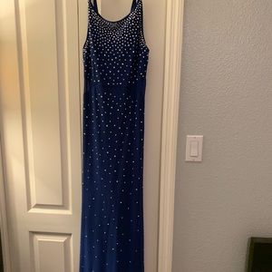 Royal blue fresh with mesh inserts and sequins
